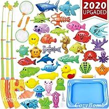 بازی های اسباب بازی ماهیگیری استخر کودکان CozyBomB - اسباب بازی های اسباب بازی شناور مغناطیسی تابستانی مغناطیسی اسباب بازی آهن ماسه قطب ماهی ماهی خالص آب وان وان حمام وان - بازی آموزش برای سن 3 4 5 پسران دختر بچه های نوپای کارناوال از طرفداری