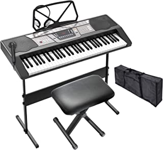 LAGRIMA LAG-440 61 Key Portable Electric Piano Keyboard w/He
