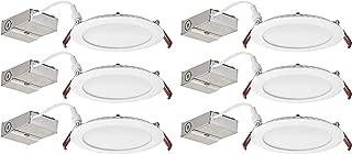 Lithonia Lighting WF4 LED 30K 80CRI MW CASEPACK6 Recessed Light, 3000K, White (Packaging may vary) (Pack of 6)