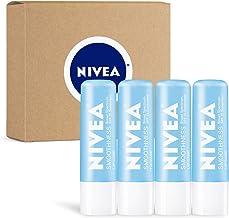 NIVEA Smoothness Lip Care - Broad Spectrum SPF 15 Moisturizing Lip Balm - Pack of 4