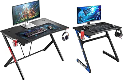 """Mr IRONSTONE Gaming Desk 45.3"""" W x 29"""" D Home Office Computer Table & 31.5"""" Gaming Desk PC Computer Desk Home Office Student Table"""