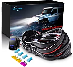 MICTUNING LED Light Bar Wiring Harness Fuse 40A Relay On-off Rocker Switch Blue(2 Lead)