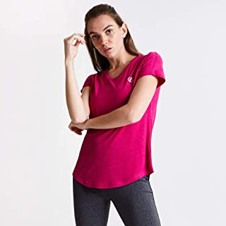 Dare 2b Women's DWT455 3BK20L Vigilant' Lightweight T-Shirts/Polos/Vests, Active Pink, 20