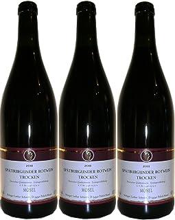 2014 Spätburgunder Rotwein Qualitätswein - Mosel - trocken - 3 x 0,75 l Flaschen