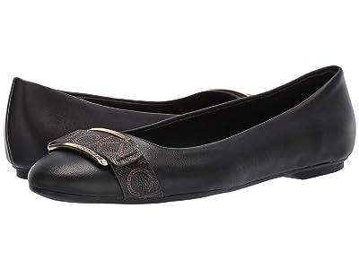 Calvin Klein Oneta (Black Nappa/Monogram Smooth) Women