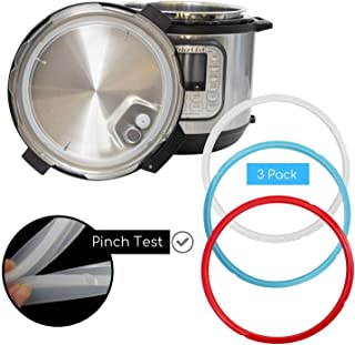 Houseables Pressure Cooker Sealing Ring, for 6qt and 5qt Instant Pot, 3 Pk, Silicone, Food-Grade Gasket, Multicolor, No BPA, Universal, Genuine Replacement Parts, Dishwasher Safe
