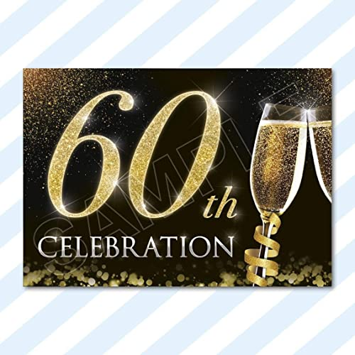 60th Birthday Party Invitations Amazoncouk