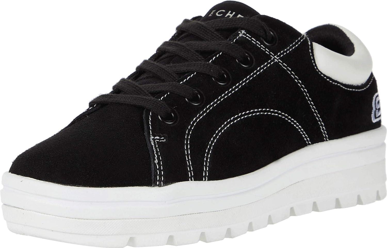 Skechers Girls Sneaker, Black, 6 Big Kid M