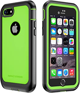 iPhone 7/8 Case, ImpactStrong Ultra Protective Case with Built-in Clear Screen Protector Full Body Cover for iPhone 7 2016 /iPhone 8 2017 (Lime Green)