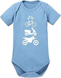 Shirtcity Evolution Bicycle Scooter Motorcycle Baby Strampler by