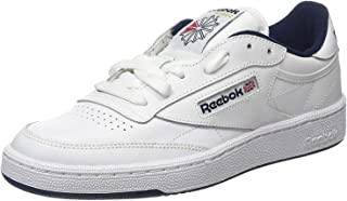 Reebok Club C 85, Unisex Adults' Gymnastics, White (Int/White/Navy Int/White/Navy), 2.5 UK (34 EU)