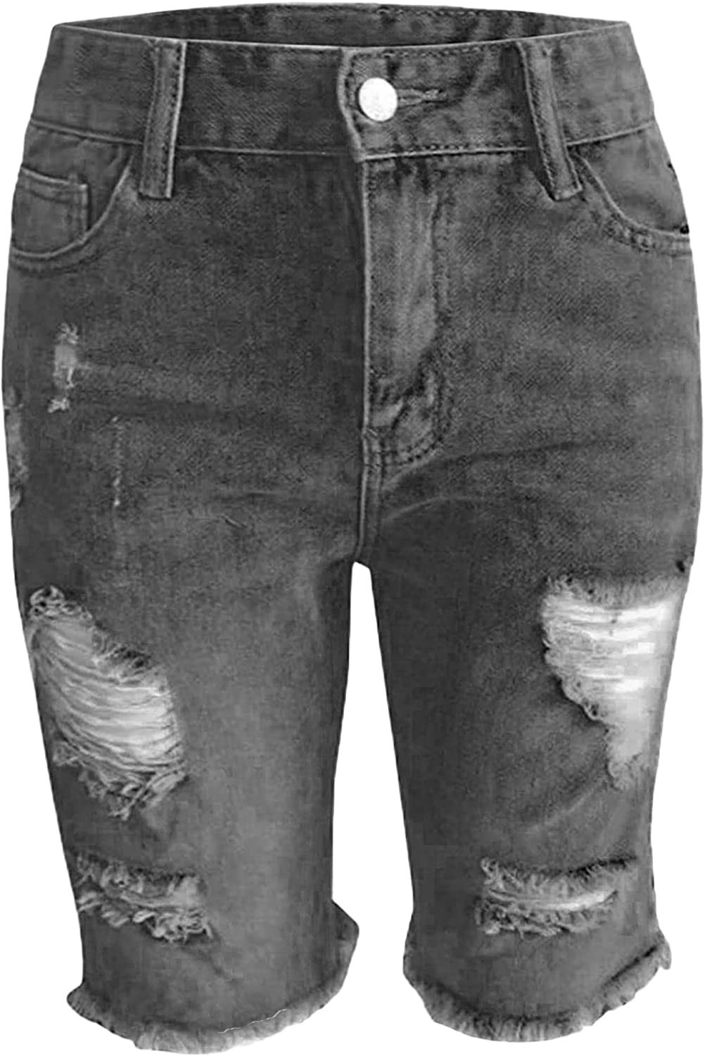 Women's Ripped Bermuda Jean Shorts Jeans With Max Max 73% OFF 56% OFF Lenght Knee Summer