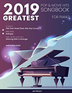 2019 Greatest Pop & Movie Hits Songbook For Piano (S