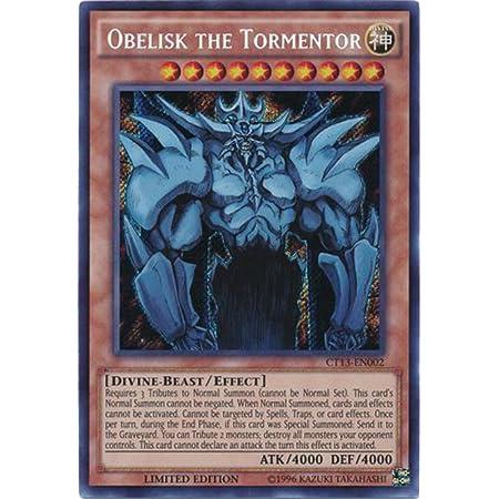 Yugioh Obelisk The Tormentor CT13-EN002 Secret Rare Limited Edition