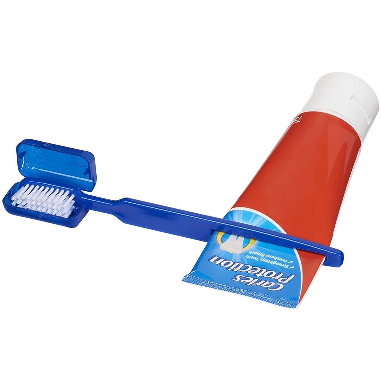 販売員監査滑り台(ブレット) Bullet チューブしぼり器つき 歯ブラシ (ワンサイズ) (ブルー)
