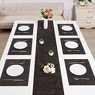 Jovilife 70Inch Table Runner and Table placemat Set of 6,Kithchen Placemats, Heat Resistant placemat, Non-Slip,Kitchen Tab...