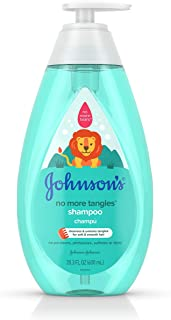 Johnson's No More Tangles Detangling Shampoo for Toddlers and Kids, Gentle No More Tears Formula, Hypoallergenic and Free ...