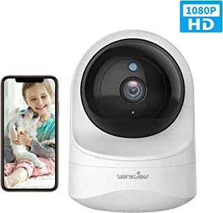 Wansview Cámara IP WiFi, 1080P Cámara Vigilancia WiFi con Visión Noturna Detección de Movimiento, Audio Bidireccional, Compatible con Alexa, Cámara de Seguridad Bebé Mascotas, Q6 (NO Tiene autonomía)
