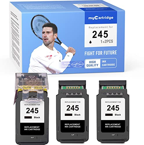 discount MYCARTRIDGE Remanufactured Ink Cartridge Replacement for Canon 245 Pg-245Xl 245XL ECO-Saver for Canon new arrival Pixma MG2520 MX492 MX490 online MG2520 MG2525 MG3022TR4520 TS3122 TS202 TS302 (1 + 2 Pack) sale