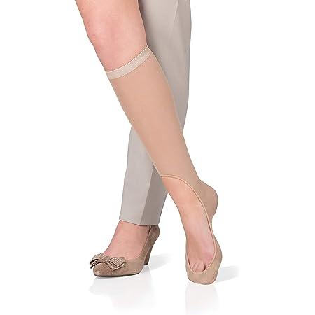 KEYSOCKS Women's BARELY THERE No-Show Knee High Socks for Footwear Fashionistas