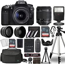 $1199 » Canon EOS 90D Digital SLR Camera Body with Canon EF-S 18-55mm f/3.5-5.6 is STM Lens 3 Lens DSLR Kit Bundled with Complete Accessory Bundle + 128GB + Flash + Case/Bag & More - International Model