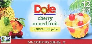 Dole Fruit Bowls, Cherry Mixed Fruit, 4oz, 12 cups