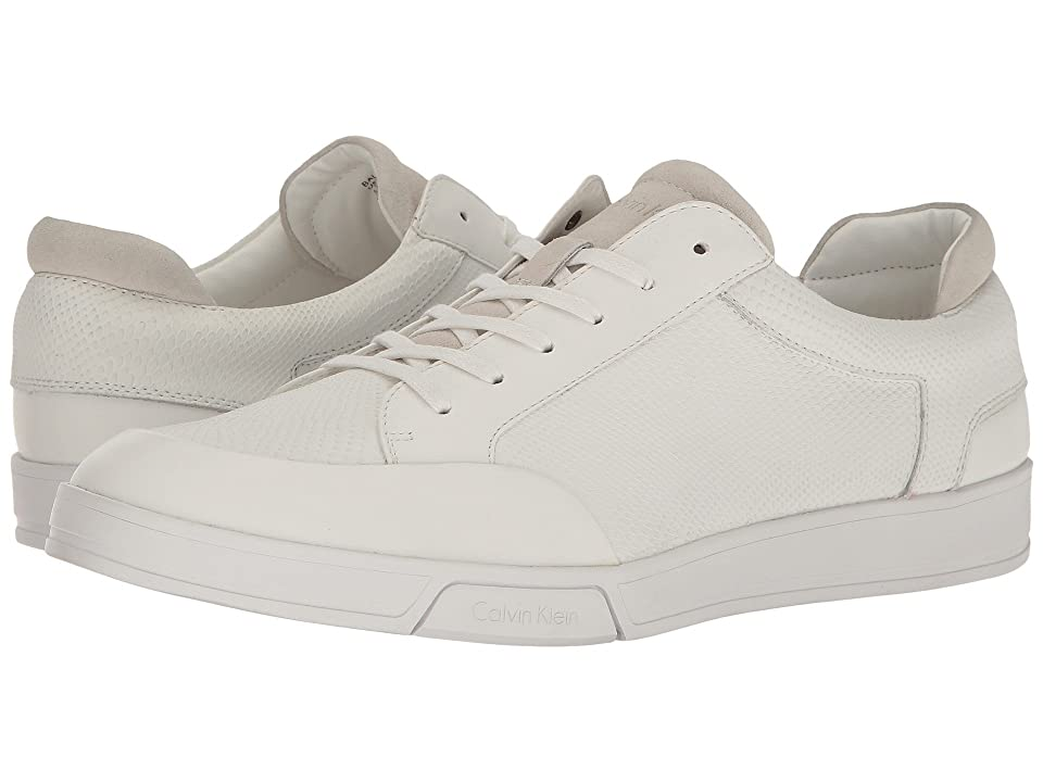 Calvin Klein Balin (White Emossed Lea Calf Smooth) Men