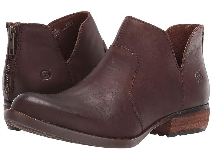 Born  Kerri (Dark Brown Full Grain Leather) Womens Dress Zip Boots