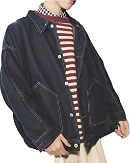 YiTong メンズ ジャケット 春 コート デニムジャケット 刺繍 アウター アウトドア 長袖 ジージャン ジャンパー カッコイイ ゆったり 原宿風 学生 通勤通学 ファッション