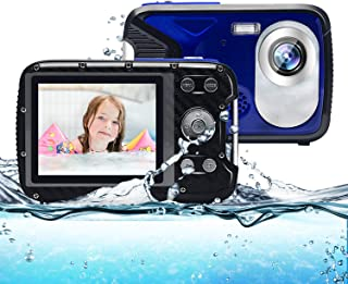 Kids Camera,Waterproof Camera 21MP 1080P Underwater Digital Camera with Flash 2.8 Inch LCD, Rechargeable HD Digital Camera...