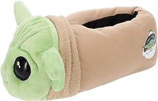 The Mandalorian,Baby YodaBoy'sSlipperFull Body, Green, Boy's Size 10/11 to 3/4