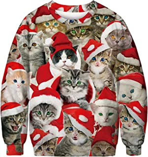 SIXDAYSOX Hilarious Ugly Christmas Sweater for Women Men and Couples Womens Mens Tacky Funny Xmas Sweatshirt Plus size