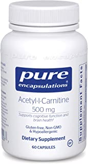 Pure Encapsulations Acetyl-l-Carnitine 500 mg | Memory Supplement for Brain, Mental Focus, and Emotional We...