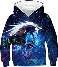 KIDVOVOU Kids 3D Unicorn Printed Pullover Hoodie Funny Sweatshirt for Boys Girls 4-16Y