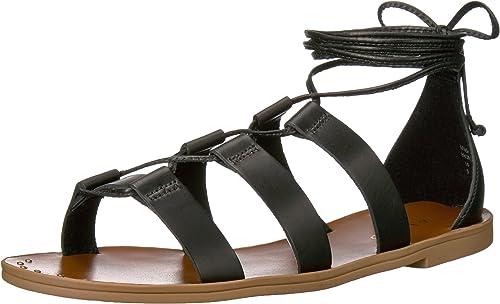 Aldo Wohommes Xavierra Xavierra Flat Sandal, noir Leather, 7.5 B US  bonne qualité