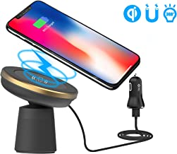 WYNK Wireless Car Charger, Magnetic Car Mount Phone Holder for Air Vent/Dashboard Qi Standard Charging for iPhone X/8/8 Plus/Samsung Galaxy S10/S10+/S10e/S9/S9 Plus/Note 9/8 (5W(Black-Gold))