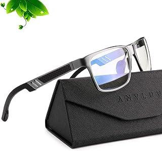 ANYLUV Blue Light Blocking Glasses Women Men - Computer Gaming Glasses,Anti Eyestrain,Al-Mg Metal Frame Ultra Light