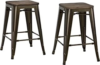 Best antique bronze metal bar stools Reviews