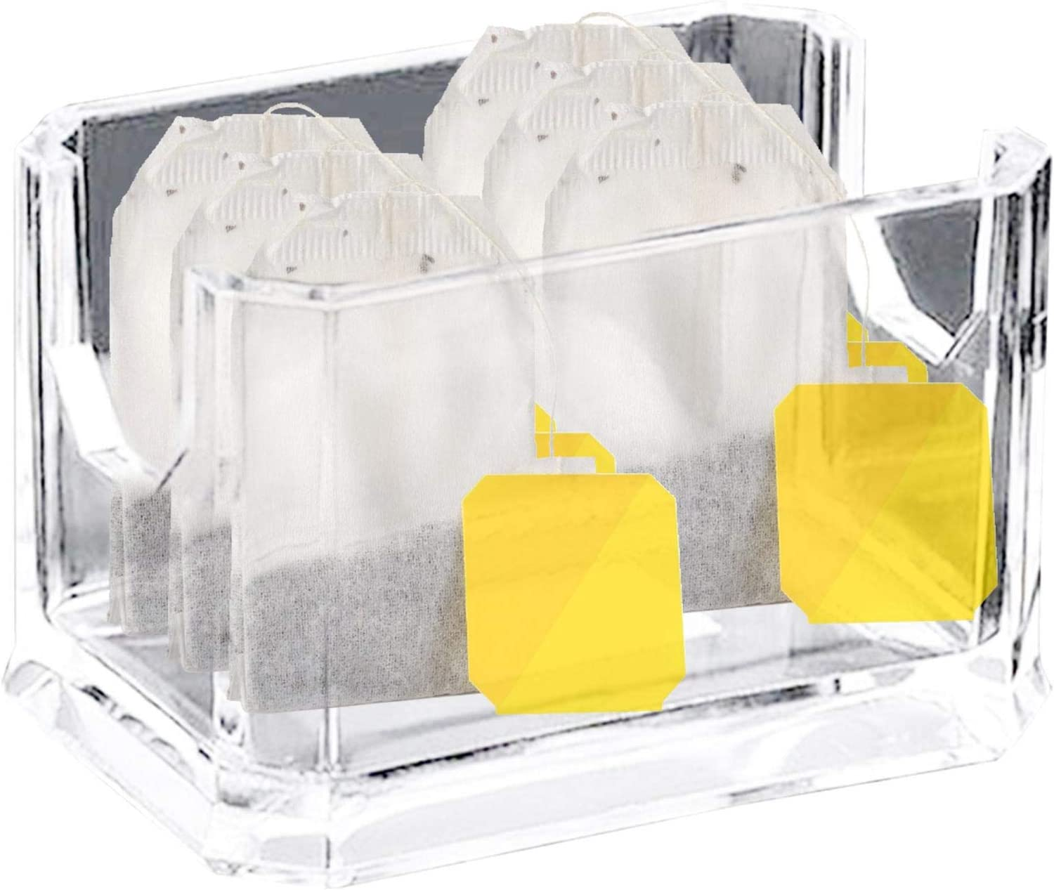 Coffee Sugar Bag Case Guest Room Storage Boxes.Pantry Organizer For Kitchen Acrylic Tea Bag Clear Boxes For Kitchen Holds Beverage Bags Clear Rectangle