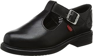 KICKERS Lach T-Bar Girls Shoes Black
