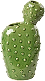 Burgon & Ball Ceramic Cactus Shaped Vase Pot in Small