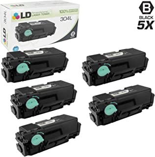 LD Remanufactured Toner Cartridge Replacement for Samsung 304L MLT-D304L High Yield (Black, 5-Pack)