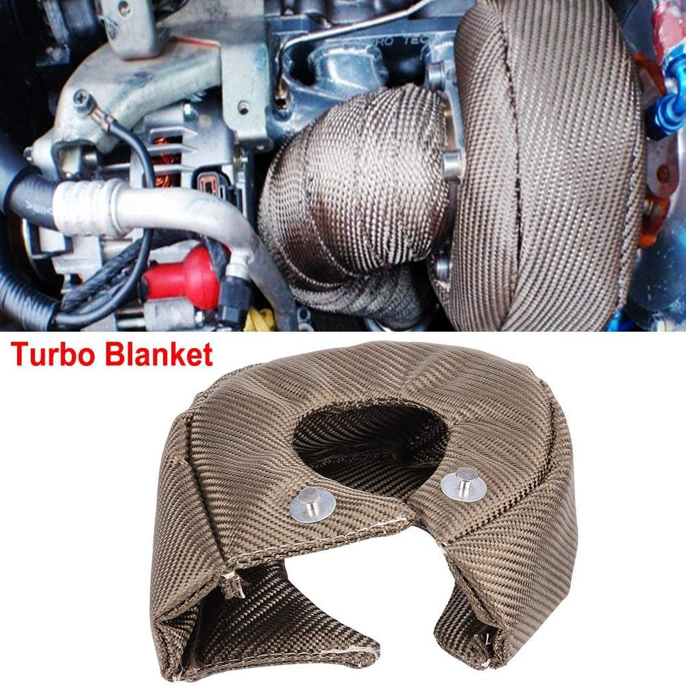 KIMISS Turbo Heat Shield,Titanium Turbo Blanket Heat Shield Cover Barrier Turbo Charger Cover Wrap for T3 Turbochargers Black T3