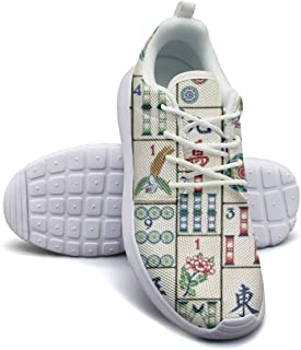 Womens Lightweight Fashion Sneakers Mahjong Tiles Casual Running Shoes