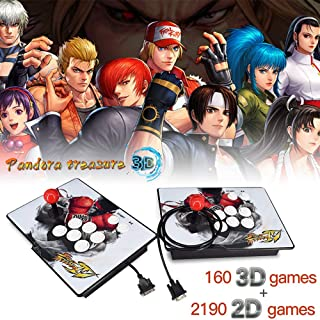 XFUNY Arcade Game Console 1080P 3D & 2D Games 2350 in 1 Pandora's Box 2 Players Arcade Machine with Arcade Joystick Support Expand 6000+ Games for TV / Laptop / PC / PS4
