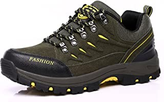 TERIAU Men's Hiking Boots Trekking Shoes Low Top Waterproof Antiskid Cushioning Boots Outdoor Sneaker
