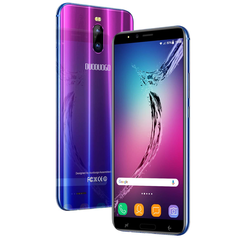 Moviles Libres Baratos 4G J6+(2019) 5.99 Pulgadas 3GB RAM y 16GB ROM/64GB 4800mAh Batería Quad-Core Dual SIM Dual Cámara 8MP+5MP Android 8.1 Smartphone Libre (Púrpura): Amazon.es: Electrónica