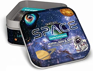 Qurious Space | STEM Flash Card Game | Explore, Match, Quiz & Spin Through The Universe. Perfect for Astronomy Fans and Fu...