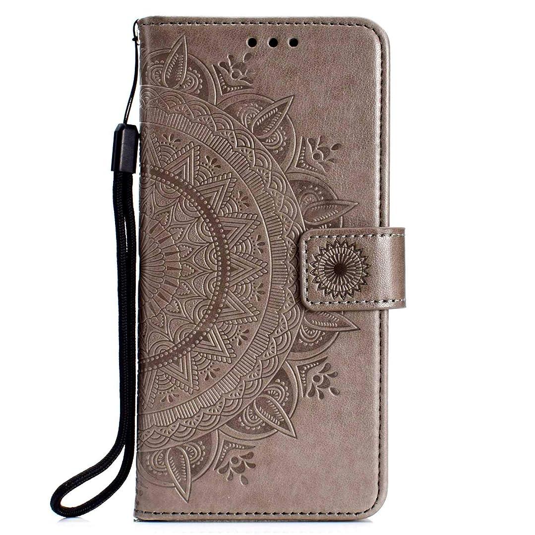 推進窒素飼いならすSony Xperia XZ3 ケース, CUSKING 手帳型 マグネット式 カード収納 スタンド機能 ストラップ 付き PUレザー 財布型 ライト 用 おしゃれ 保護ケース カバー Sony Xperia XZ3 対応, グレー