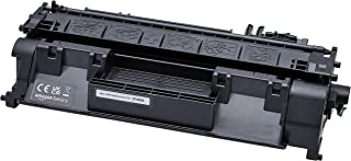 Amazon Basics Cartouche de toner capacité standard reconditionnée de rechange pour HP 80A, Noir, Standard